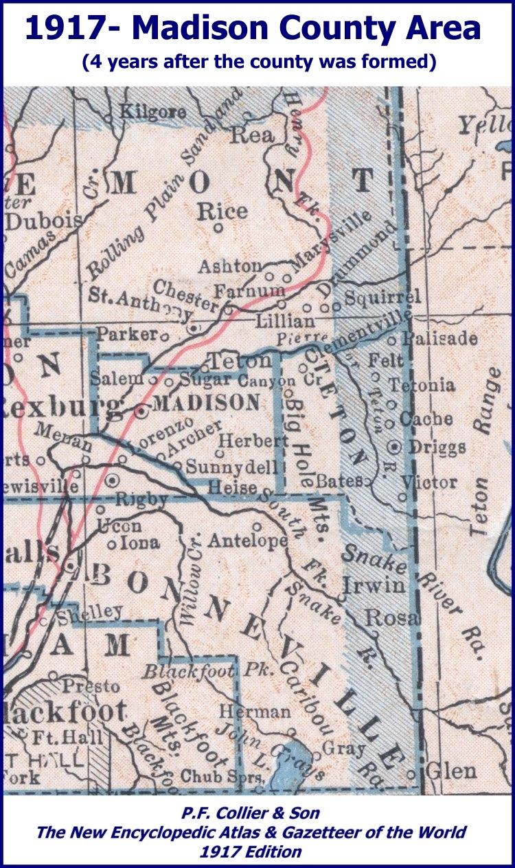 Madison County IDGenWeb/History/1917 Map on madison washington map, northwest county map, madison va map, madison al map, stewart county map, long county map, grainger county map, early county map, letcher county map, bremer county map, chesapeake county map, tennessee map, west orange county map, madison village map, sweet grass county map, travel indiana county map, madison elevation map, elliott county map, chariton county map, warwick county map,